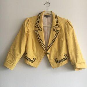 Yellow Blazer With Studs